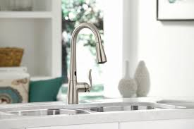 kitchen faucets free motion kitchen faucet moody moen introduces a free faucet