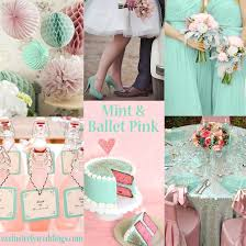 mint green wedding pink wedding color twelve combinations exclusively