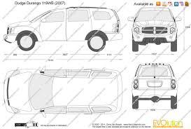 the blueprints com vector drawing dodge durango 119wb