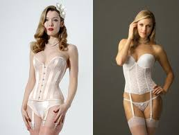what s the difference between a corset and a bustier