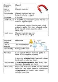 separation of mixtures worksheet separating mixtures 2 a year 5