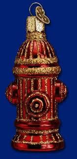 glass santa firefighter ornament firefighter ornaments
