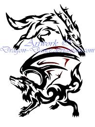 yin yang dragons tribal tattoo design wall clock photos