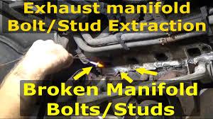 dodge dakota exhaust manifold exhaust manifold broken bolt extraction dodge hemi