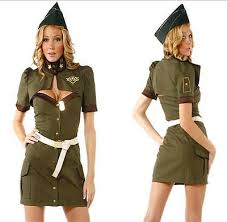 Army Soldier Halloween Costume Sensual Soldier Army Police Special Agent Women Halloween