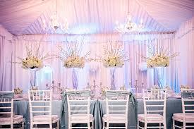 White and Blue Wedding Décor from Grand Event Rentals Alante