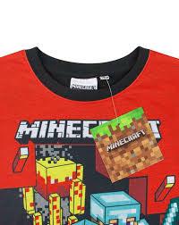 minecraft boys short sleeve pyjama red amazon co uk clothing