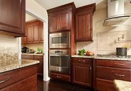 modern kitchen with cherry wood cabinets modern kitchen renovation featuring cherry wood cabinetry