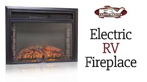 electric rv fireplace youtube