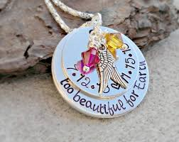 personalized remembrance jewelry personalized memorial necklace beautiful for earth necklace