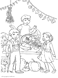 thanksgiving cornucopia coloring pages thanksgiving coloring pages for kids