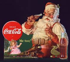Coca Cola Patio Umbrella by 1930 U0027s Coca Cola Ad Featuring Santa Clause Outdora Blog