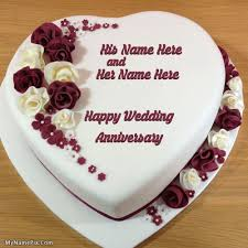 wedding wishes cake wedding anniversary cake with name