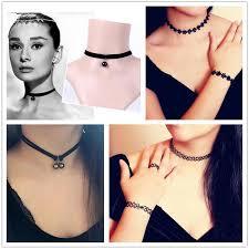 black neck choker necklace images 2018 vintage velvet chokers necklace statement necklaces retro jpg