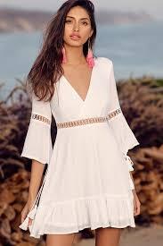 lovely white dress skater dress long sleeve dress