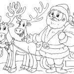 santa reindeer coloring pages gekimoe u2022 80762