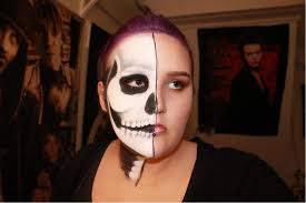 Halloween Skeleton Face Makeup by Half Face Half Skull Makeup Tutorial Youtube