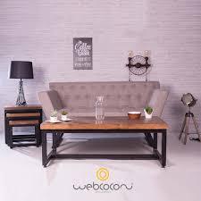 canapé industriel design canapé 2 places industriel moderne avec un tissu original