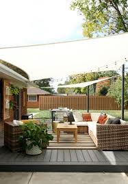 Diy L Shade Minimalist Backyard Design With Diy Deck Shade Sails Weatherproof