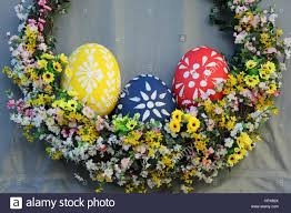 easter eggs sale easter eggs on sale in prague stock photo 134572114 alamy
