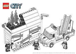 coloriage lego city pompier dessincoloriage