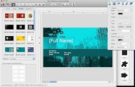 how to make business cards on mac business card designer create