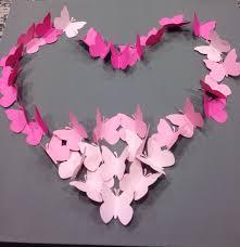diy ombre butterfly wall art