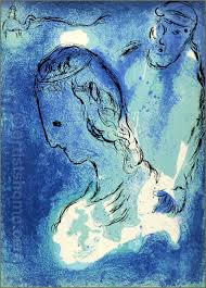 marc chagall abraham and sarah 1956 the bible original