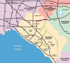 San Diego State Map by Route 91