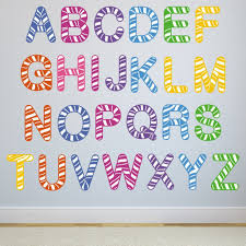 stripe alphabet wall stickers mirrorin stripe alphabet wall stickers