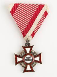 Austro Hungarian Flag Original Antique Austria Hungary Military Merit Cross With Case