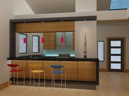 creative kitchen cabinet ideas with green wall and hanging lamps