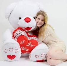 big valentines day teddy bears white teddy 40 inch soft with big plush i