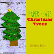 Holiday Crafts For Preschoolers - paper plate christmas trees kid friendly holiday craft