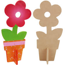 gift ideas for the kitchen wood mdf craft blank standing flower paint your own wood mdf