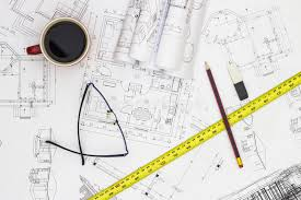 home renovation plans home renovation plans and tools stock photo image of