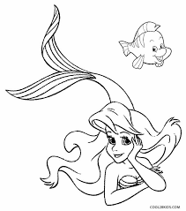 printable mermaid coloring pages kids cool2bkids disney