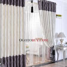 Brown And Ivory Curtains Elegant Ivory Floral Printed Polyester Striped Ordinary Blackout