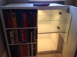 Bookcase Cabinet With Doors Bookcase Hides Secret Cabinet Ikea Hackers