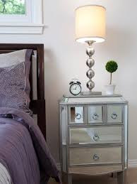 Nightstand Size by Bedroom Furniture Mirrored Modern Bedroom Nightstand Side Table