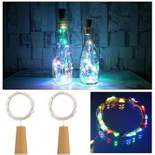 Starry String Lights Amber Lights On Copper Wire by Ansaw Spark I Battery Powered Wine Bottle Lights Pro 20 Led
