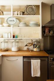 No Cabinet Kitchen Kitchens With No Upper Cabinets Kitchen Shelves Wall For Small To