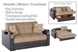 Modern Loveseat Sofa Modern Upholstered Futon Alissa Brown Couch Futon The Futon Shop