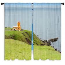 Lighthouse Window Curtains Lighthouse Custom Size Window Curtains
