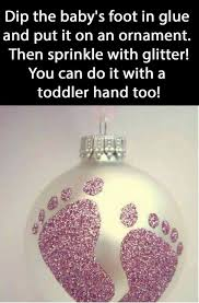 glue glitter a special ornament and a steady is all you