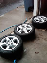 lexus rx300 winter tires my winter set up in the sportx from flat black to original