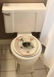 creepy spiders toilet topper indoor scary halloween decorations