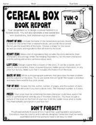 treasure island book report cereal box book report rubric book report templates pinterest