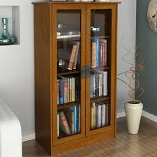 Bookcase With Glass Doors Bookshelves With Doors On Shelving Household Shelving