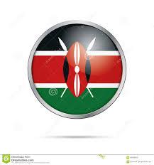 Images Kenya Flag Vector Kenyan Flag Button Kenya Flag In Glass Button Style Stock
